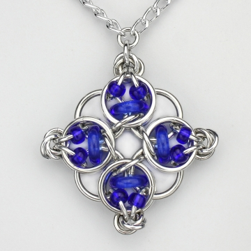 *LIMITED TIME* Celtic Diamond pendant kit - Alum/Light Cobalt- from New Connections book