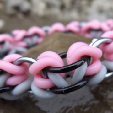 *LIMITED TIME* Lock & Twist Bracelet kit - Pink/Grey - from New Connections book